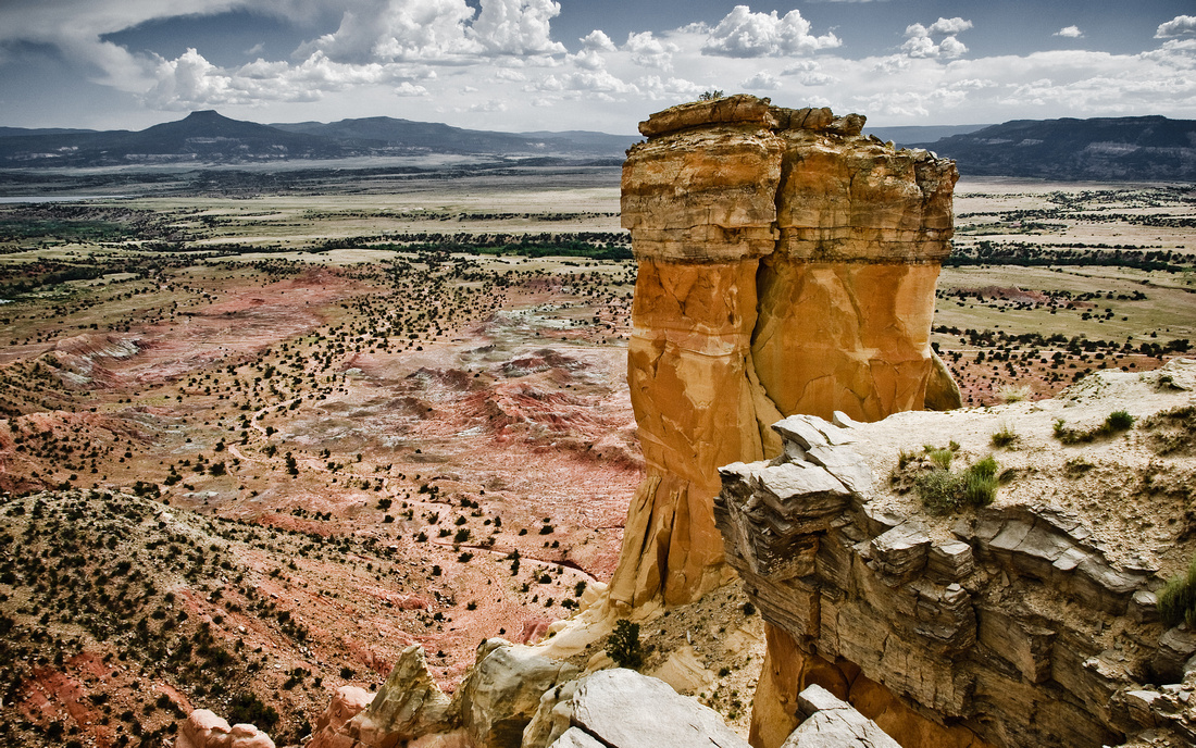 Chimney Rock and Pedernal, Abiquiu, New Mexico