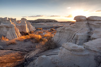 Bisti Wilderness Lower Wash Sunset