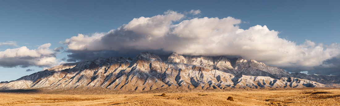 First Snow on the Sandias - Panorama I